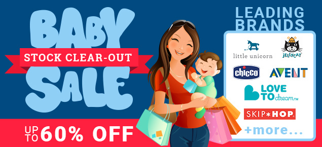 Baby Stock Clear-out Sale - Up to 60% off