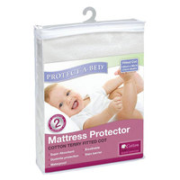 Protect-A-Bed Cotton Terry Fitted Cot Mattress Protector image