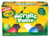 Crayola: Acrylic Paint Pack 6 Colours