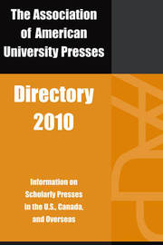 Association of American University Presses Directory: 2010 by Association of American University Presses image