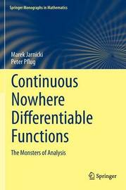 Continuous Nowhere Differentiable Functions by Marek Jarnicki