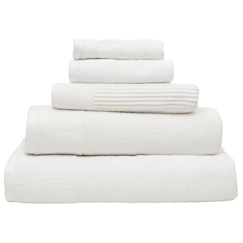Bambury Costa Cotton Bath Towel (Snow) image