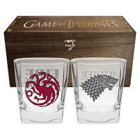 Game Of Thrones Set Of 2 Glasses In Case