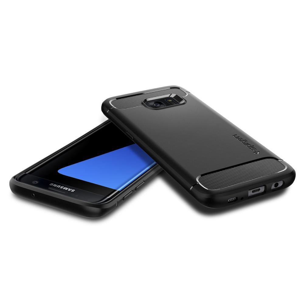 Spigen: Galaxy S7 Edge - Rugged Armor Case (Black) image