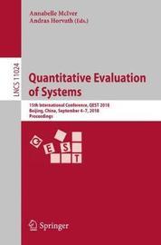 Quantitative Evaluation of Systems image