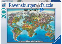 Ravensburger World Map Puzzle (2000pc)