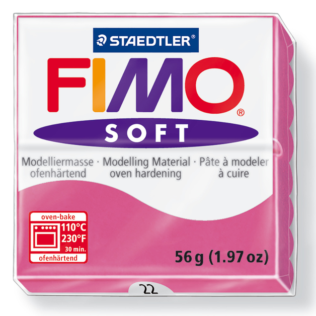 Staedtler Fimo Soft Modelling Clay Block - Raspberry (56g)