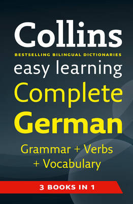 Easy Learning Complete German Grammar, Verbs and Vocabulary (3 books in 1) image