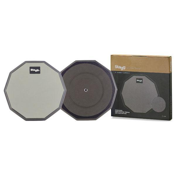 """Stagg 8"""" practise pad - 10 sided"""