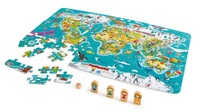 Hape: 2-in-1 Puzzle & Game - World Map