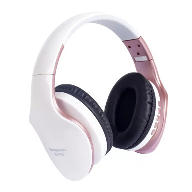 Ape Basics: Foldable Noise Isolating Over-Ear Bluetooth Headphones With Mic - White