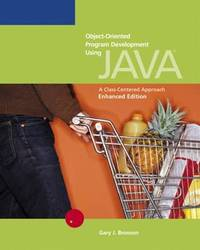 Enhanced Object-Oriented Programming Development Using Java by Gary Bronson image