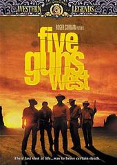 Five Guns West on DVD