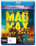Mad Max: Fury Road 3D DVD