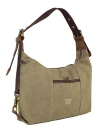Troop London: Dalton Shoulder Bag - Washed Stone