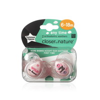 Closer to Nature Any Time Soother 6-18 Months (Wild) - 2 Pack