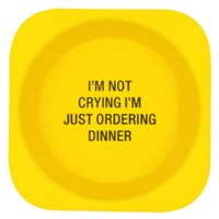 Say What: Bamboo Feeding Bowl - I'm Ordering Dinner (Yellow)