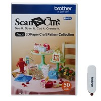 Brother Scan N Cut USB4 3D Paper Craft Pattern Collection image