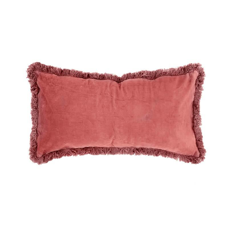 Bambury Clay Velvet Feather Filled Cushion image
