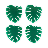 Lush Monstera Leaf Coasters image