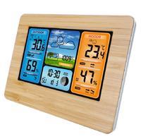 Wireless Sensor LCD Display Weather Station - Wood image