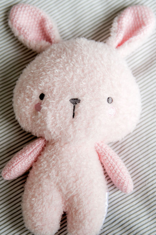 Bubble: Knitted Plush Cuddly Toy - Lily the Bunny
