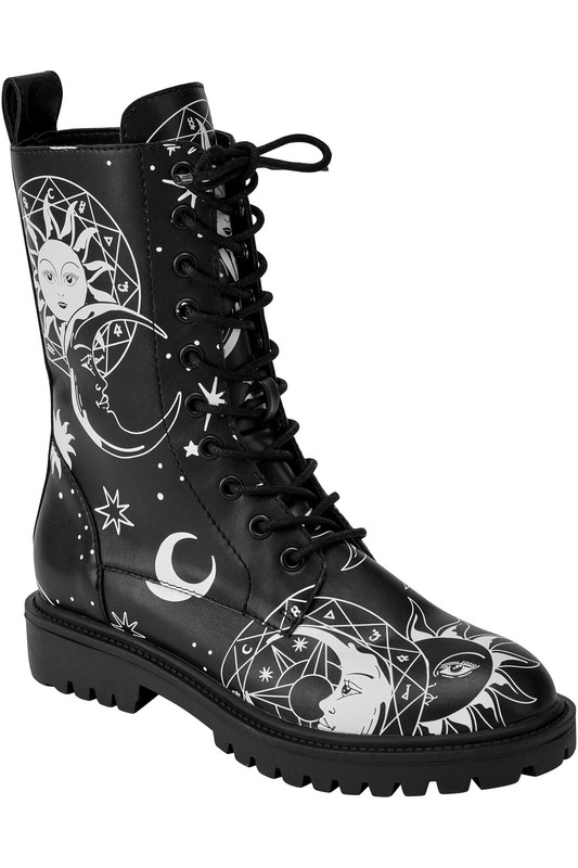 Killstar: Astral Light Combat Boots - US9 / Black