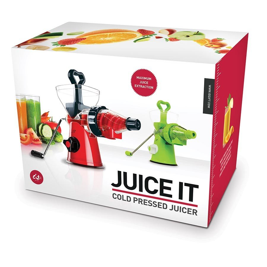 Juice It Cold Pressed Juicer (Red/Black)