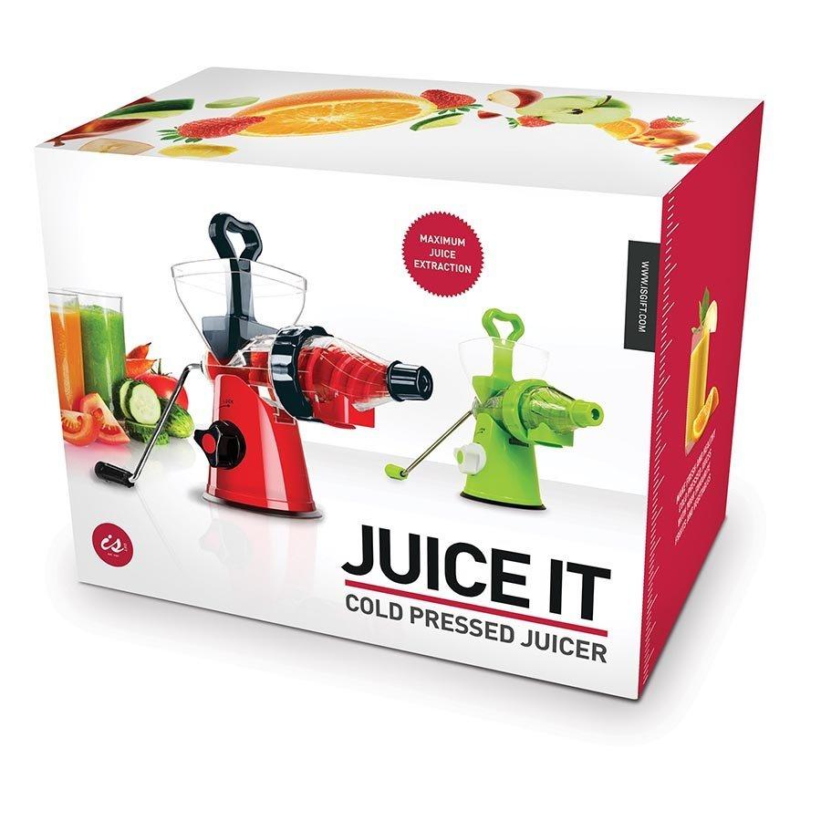 Juice It Cold Pressed Juicer (Red/Black)