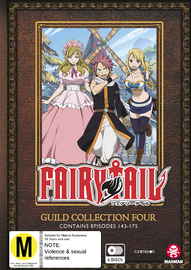 Fairy Tail Guild Collection 4 (eps 143-175) on DVD