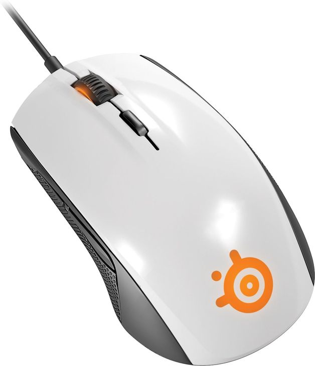 SteelSeries Rival 100 Gaming Mouse - White for PC Games