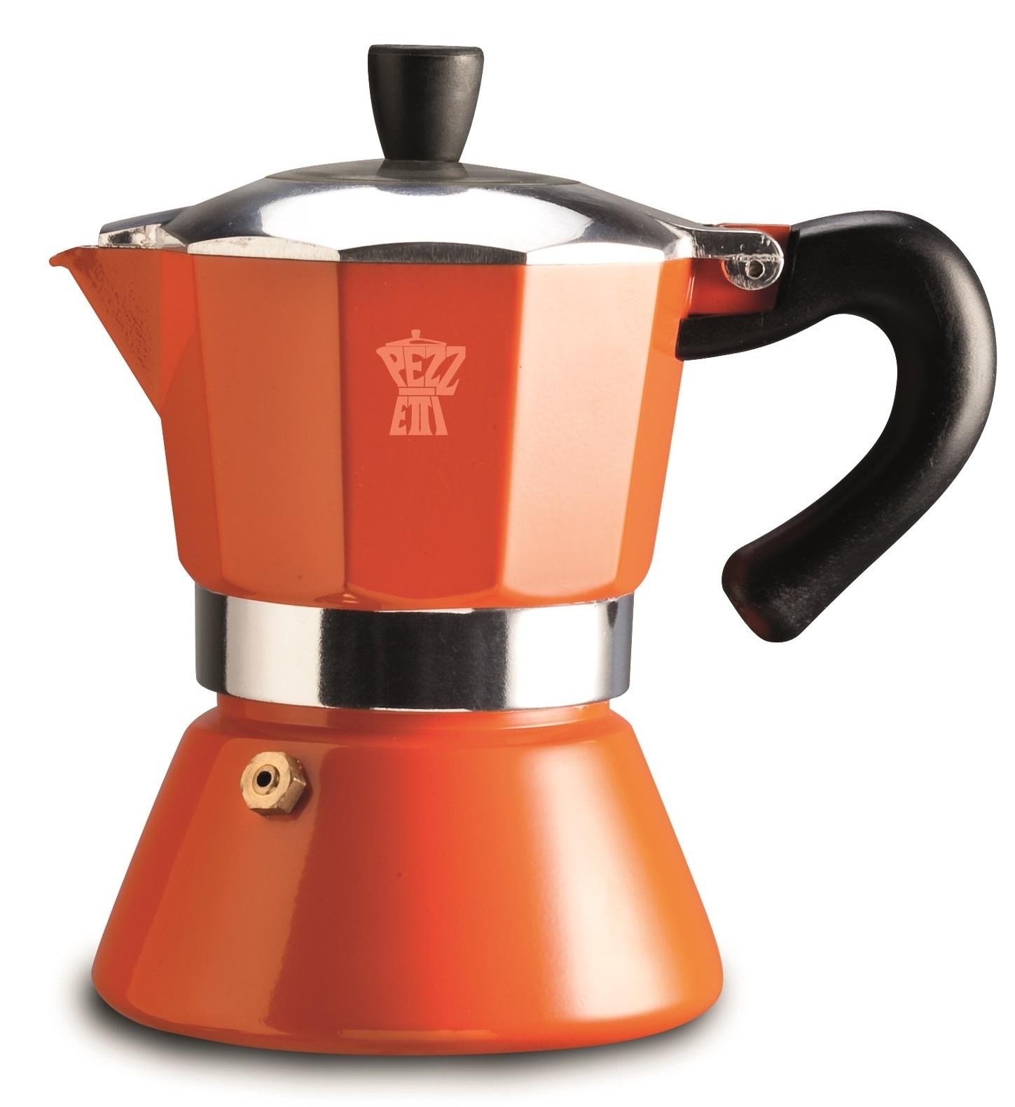 Pezzetti Bellexpress Orange Induction Coffee Maker image