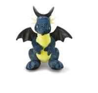Nici: Sitting Dragon - Grey & Neon Green (20cm)