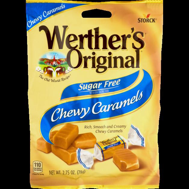 Storck Werther's Vanilla Chewy Caramel Sugar Free 78g