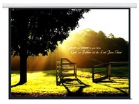 """Brateck: 135"""" Electric Projector Screen (16:9 ratio)"""