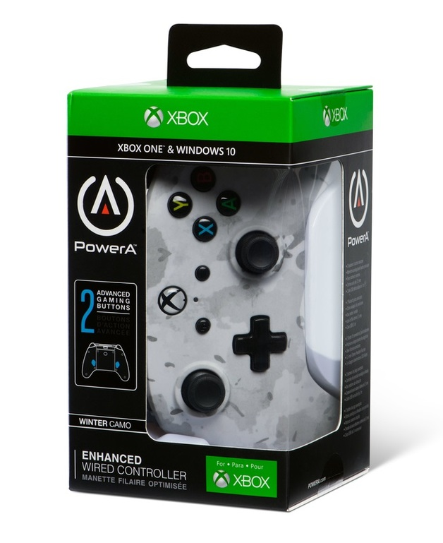 Xbox One Enhanced Wired Controller - Winter Camo for Xbox One