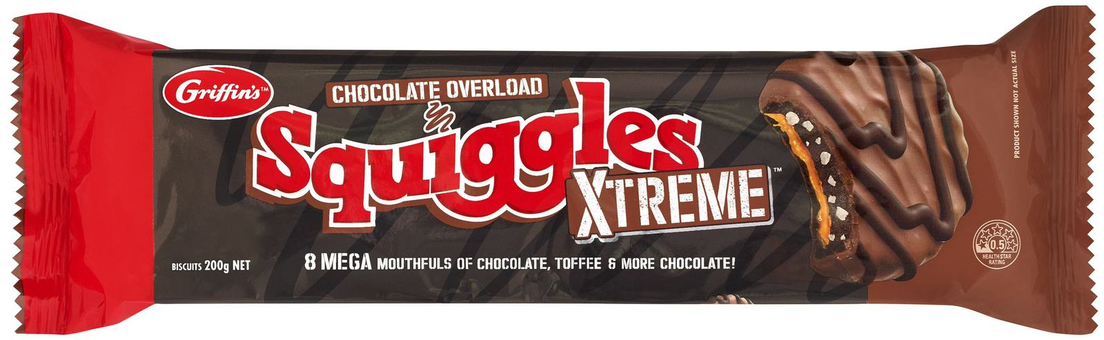 Griffins Squiggles Xtreme Chocolate Overload (200g) image