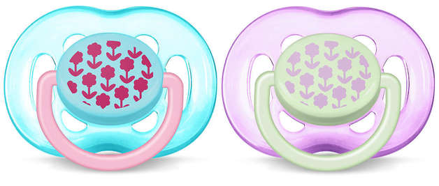 Philips Avent 6m+ Fashion Soother - Flowers (2 Pack)
