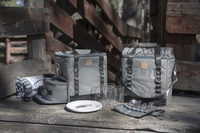 Picnic Time: PT-Frontier Picnic Utility Cooler (Heathered Gray) image