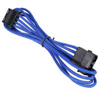BitFenix Sleeved 4-Pin Molex Male- Female Extension Cable 45cm - Blue/Black image