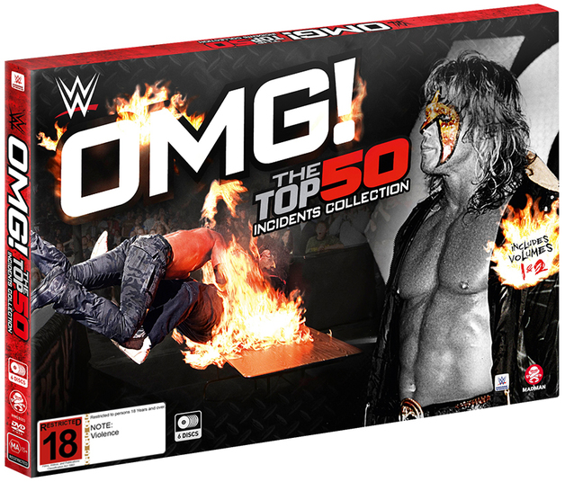WWE: OMG! The Top 50 Incidents In WWE History Collection (Box Set) on DVD