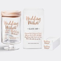 Wedding Wishes Glass Jar image