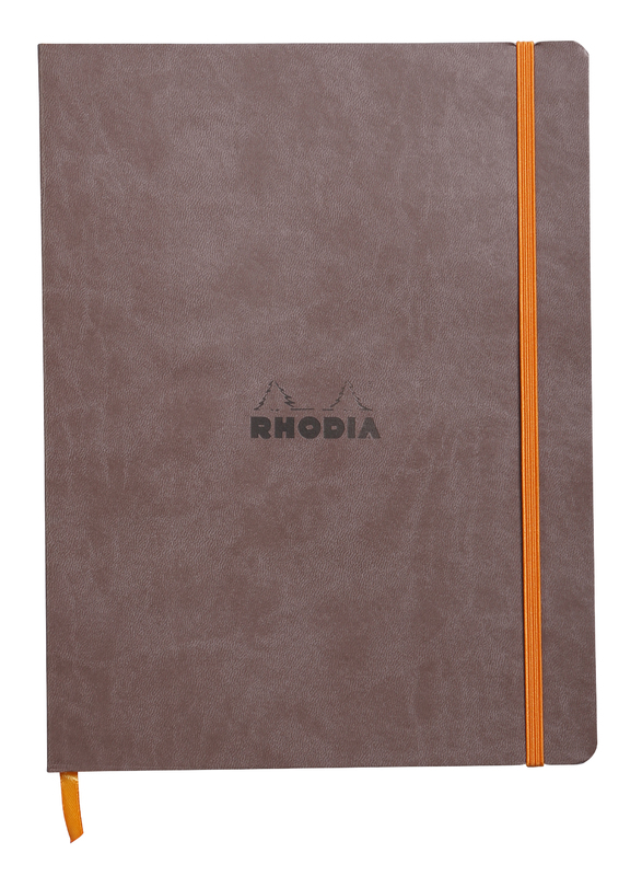 Rhodiarama 19x25cm Softcover Notebook Lined - Chocolate