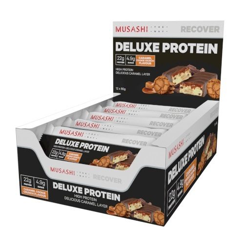Musashi: Deluxe Protein Bar - Caramel Cookie Crunch (12x60g)