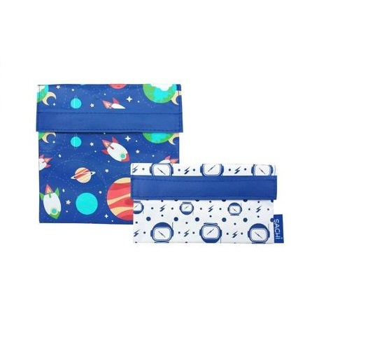 Sachi Reusable Lunch Pocket Set - Outer Space