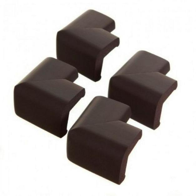 Dreambaby Foam Corner Protectors, 4 Piece (Brown)