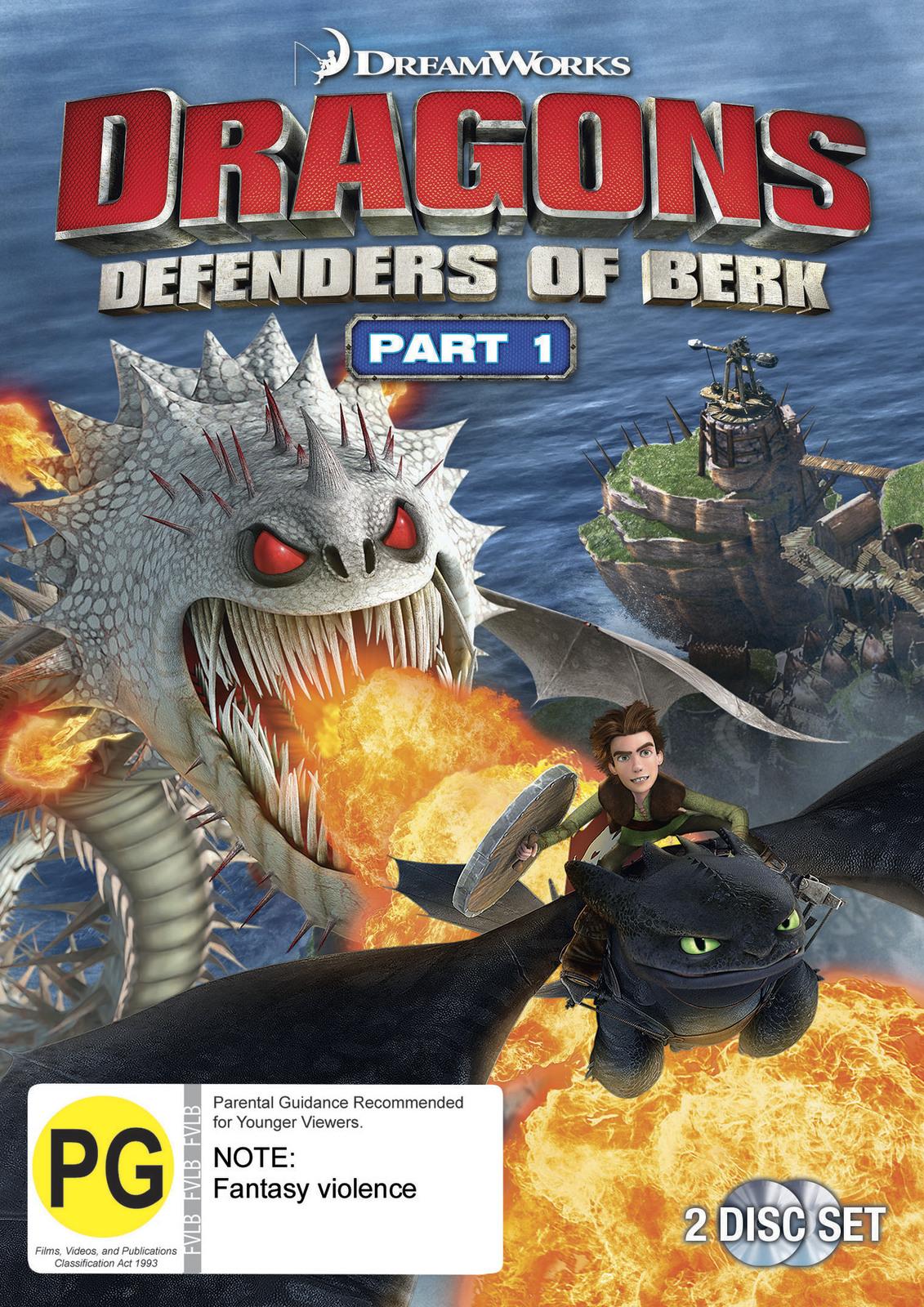 Dragons Defenders Of Berk: Part One (2 Disc) on DVD image