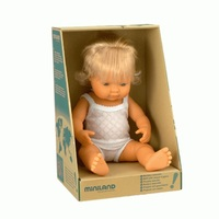 Miniland: Anatomically Correct Baby Doll - Caucasian Girl (38cm)