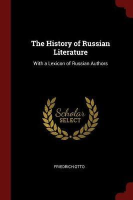 The History of Russian Literature by Friedrich Otto image