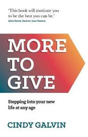 More to Give by Cindy Galvin